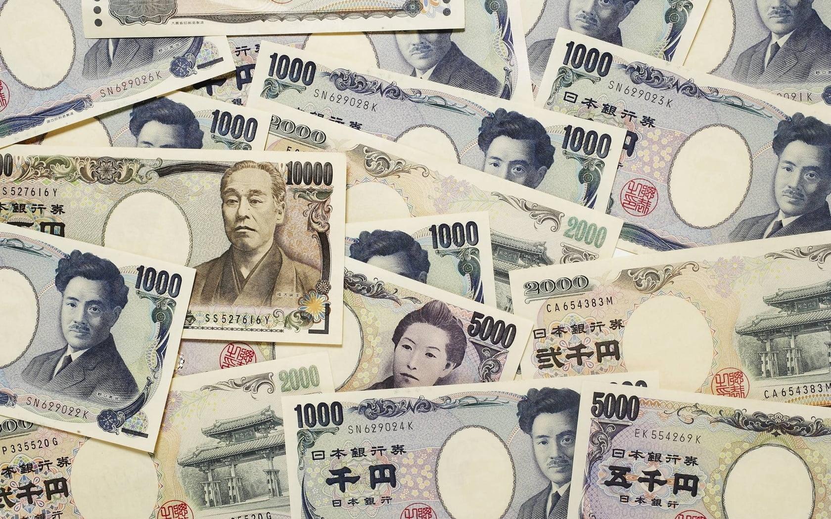 Notas de dinheiro do Japão