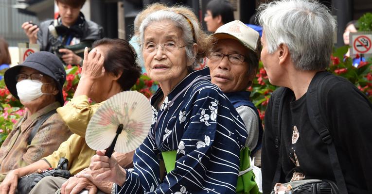 idosos japao