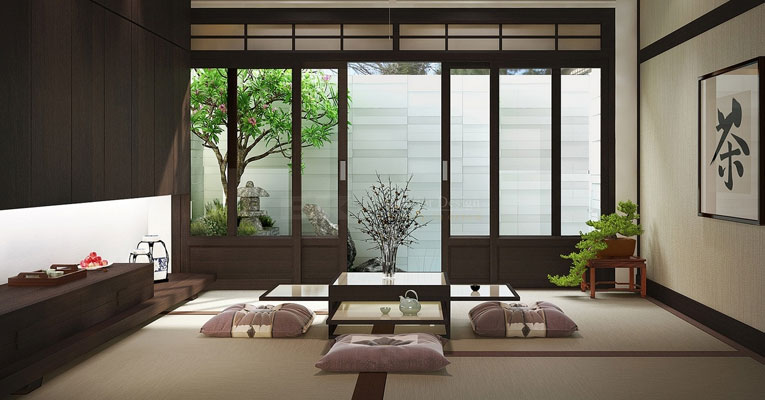 decoracao zen japao