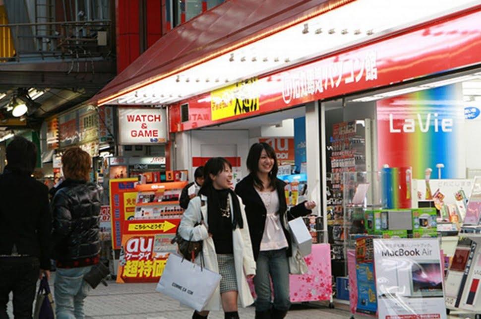 fazendo compras no Japão