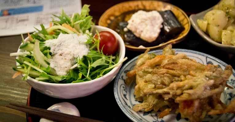 comida vegetariana no Japão