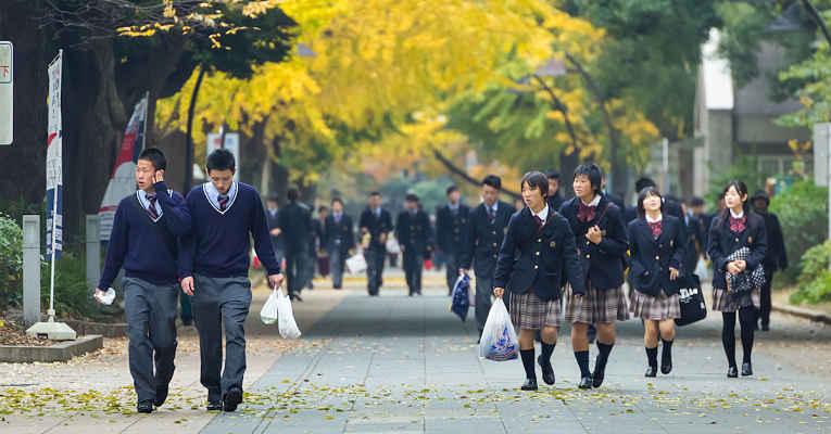 início das aulas Japão