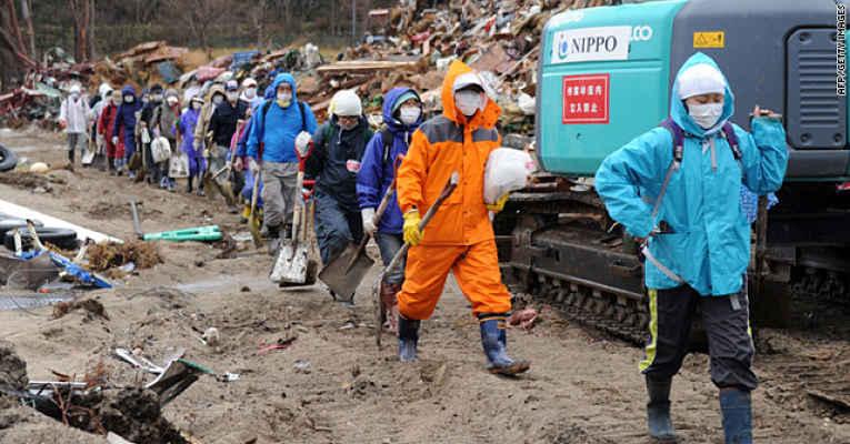 voluntários no Japão
