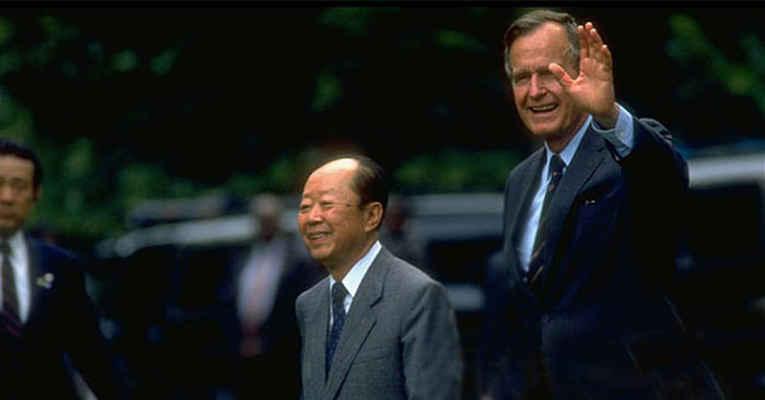 George Bush e Kiichi Miyazawa