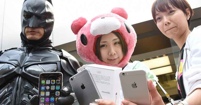 iphone no Japão