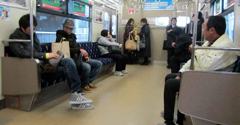 estrangeiros no transporte público