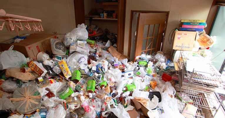 acumuladores de lixo no Japão