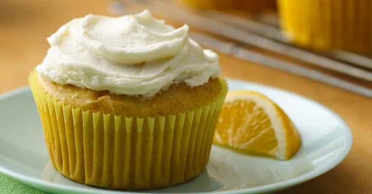 cupcake de tofu de limão vegano