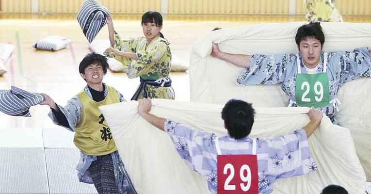 Guerra de travesseiro no Japão