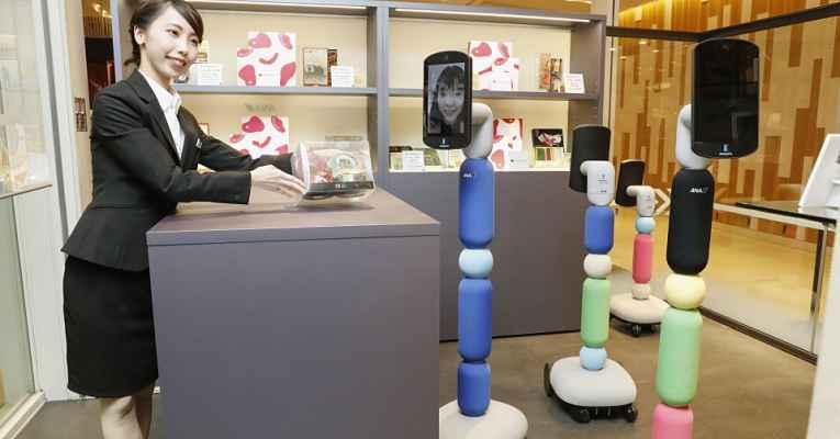 Avatar robô da empresa ANA