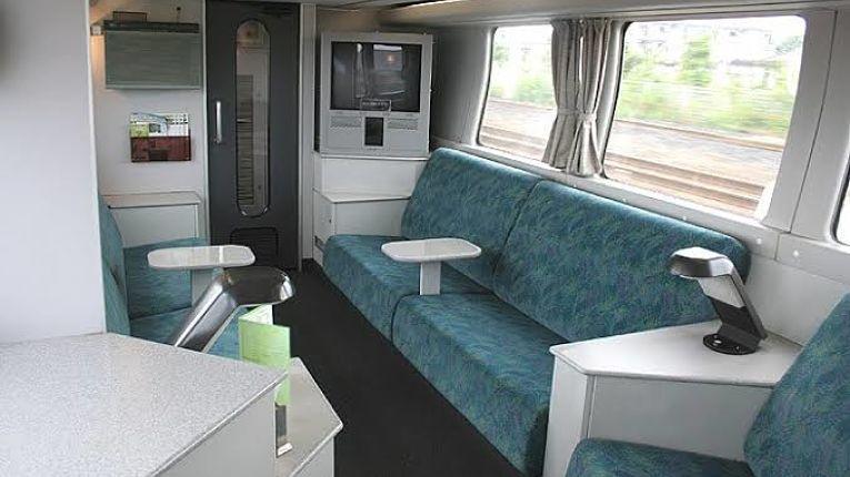 Cabine do trem expresso