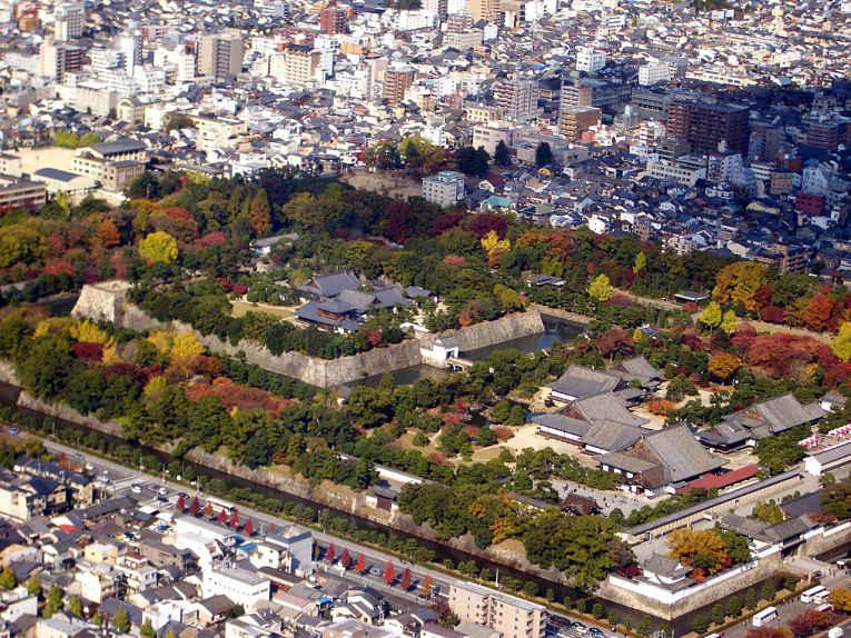 Vista aérea do castelo Nijo
