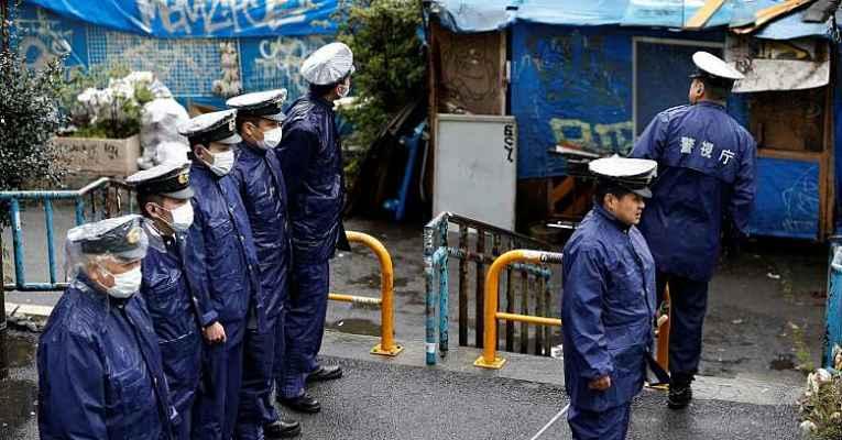 Policiais no parque Yoyogi
