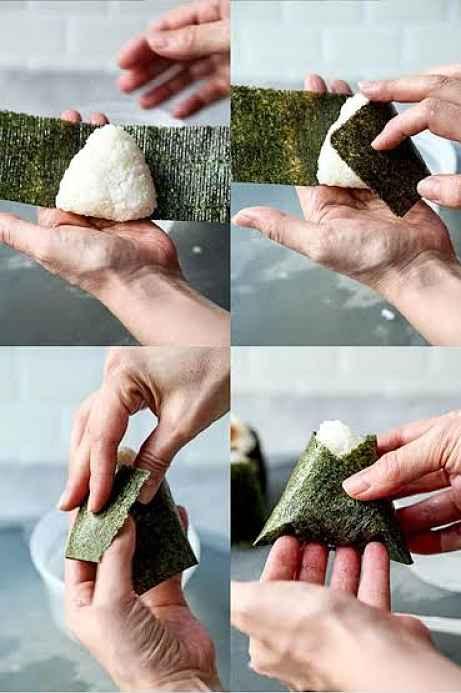Envelopando onigiri