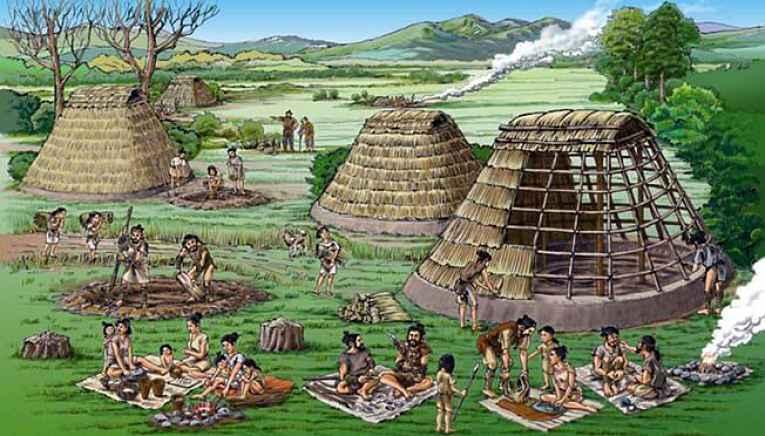 Ilustração sociedade Jomon