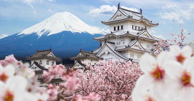 Castelos para ver flores de cerejeira