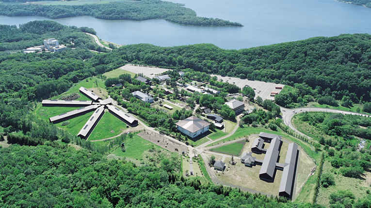 Vista aérea da prisão Abashiri