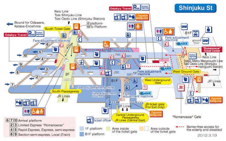 Mapa da estação