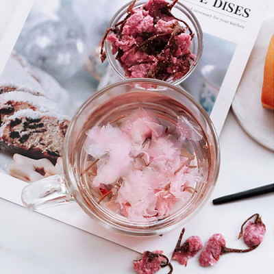 Chá de flor de cerejeira