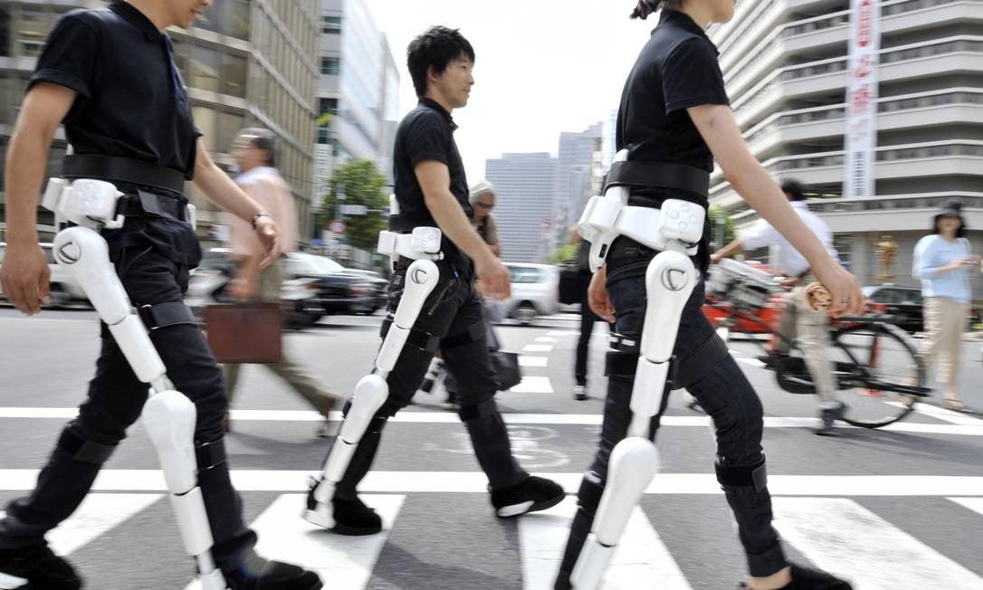 Exoesqueleto do futuro no Japão