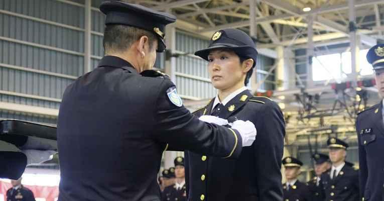 Primeira paraquedista mulher do Japão