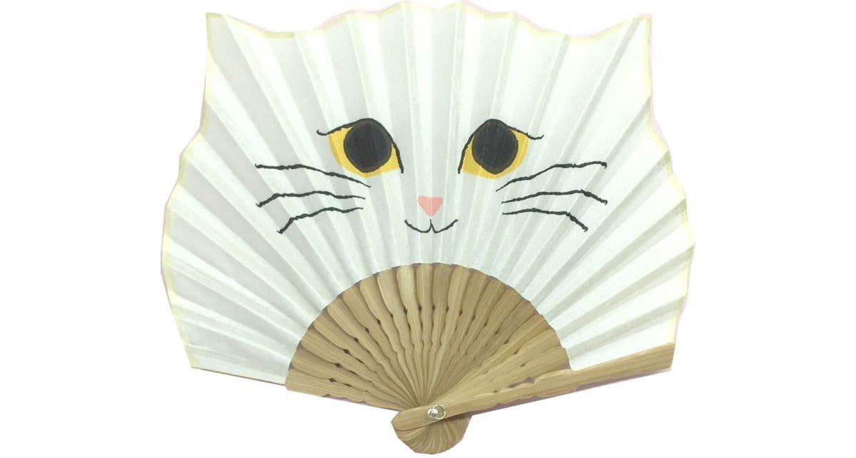 Leque japonês gato branco