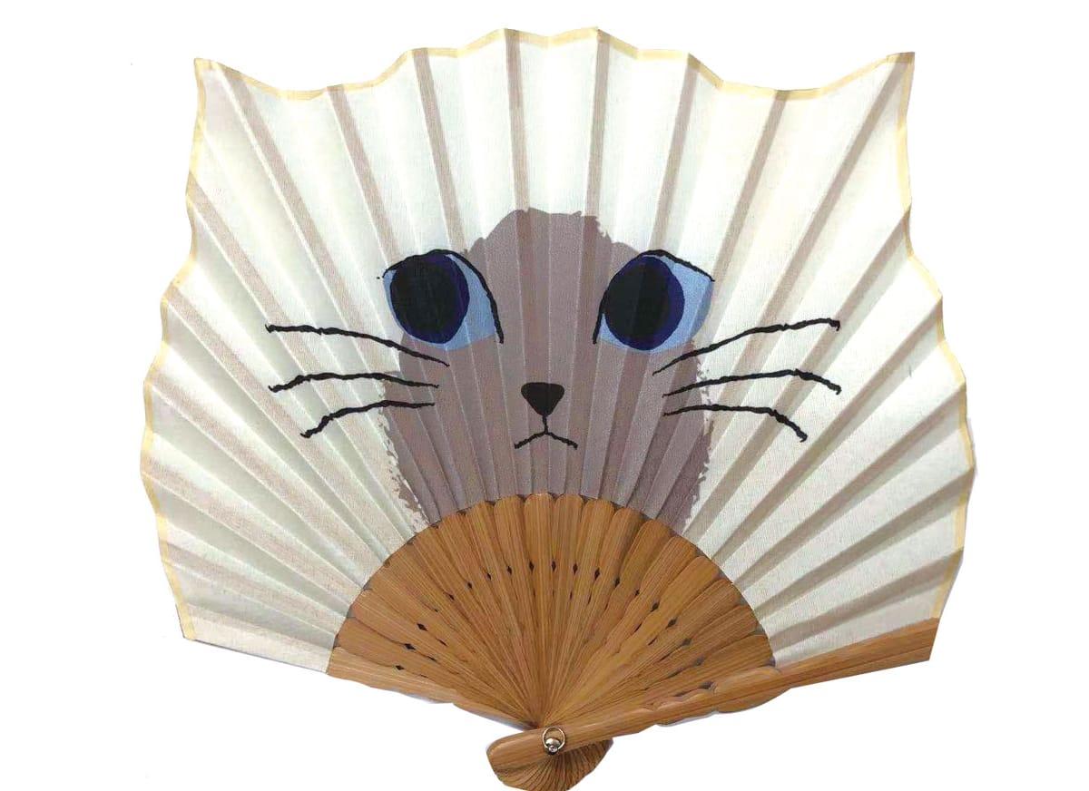 Leque japonês gato siamês