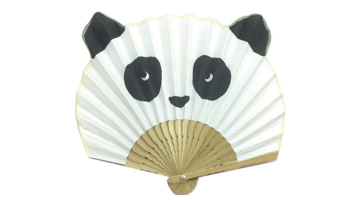 Leque japonês panda